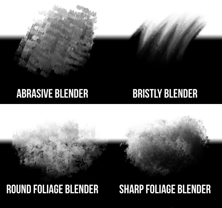custom photoshop brushes - blenders