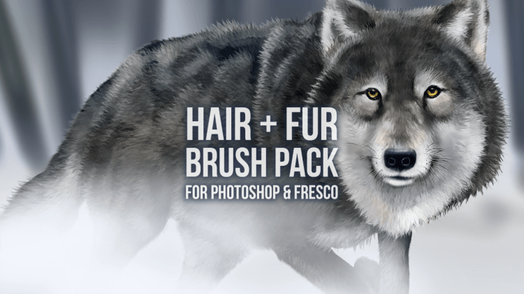 hair and fur brush pack - adobe fresco and photoshop brushes
