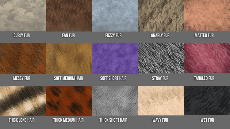 hair and fur brushes for photoshop