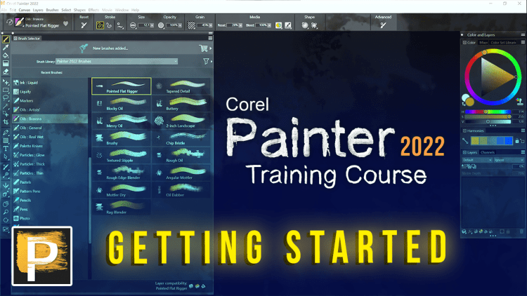 getting started with corel painter 2022