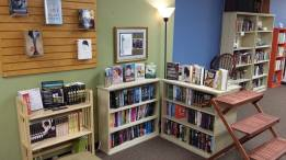 a cozy YA reading corner