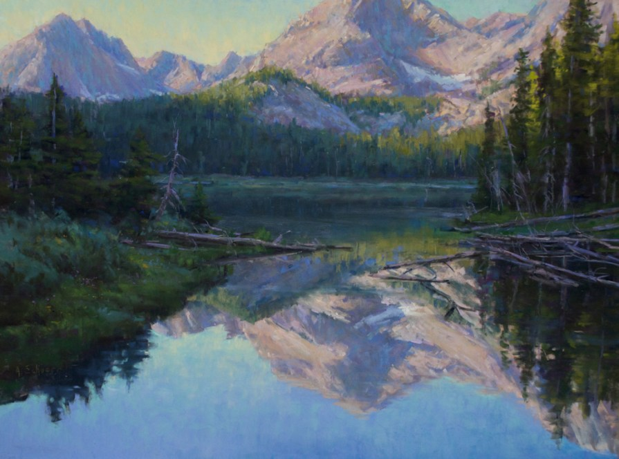 """Mirror Lake Reflected"" 18x24, pastel"