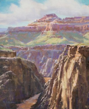 """Afternoon at Plateau Point"" 14x9, pastel"