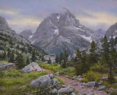 """Upper Cascade Canyon"" 19.5x24. Pastel"