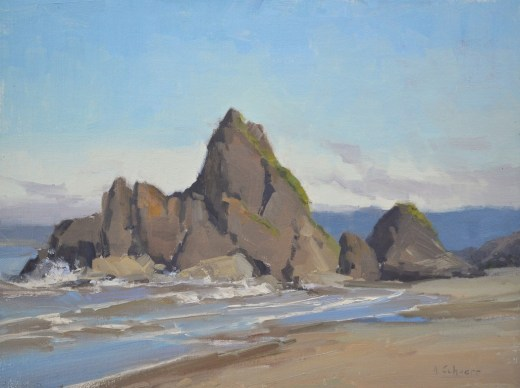 """Ruby Beach"" 9x12, oil. $550"