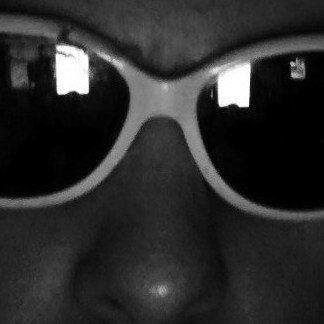 Writer Aaron Sommers wearing sunglasses