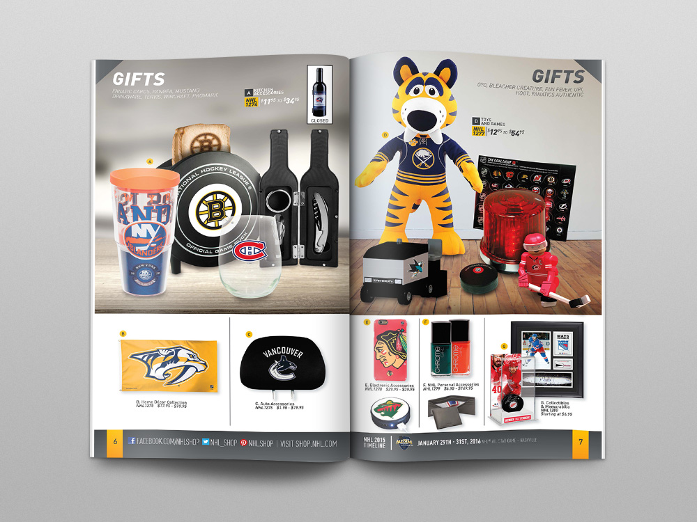 Shop.NHL.com Fall 2015 Catalog – Pages 06/07