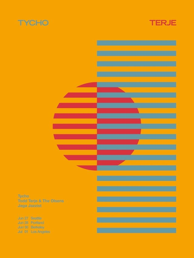 ISO50 – Tycho Poster – West Coast Tour