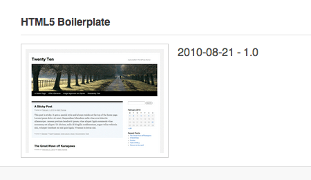 The WP Theme that never was: HTML5 Boilerplate