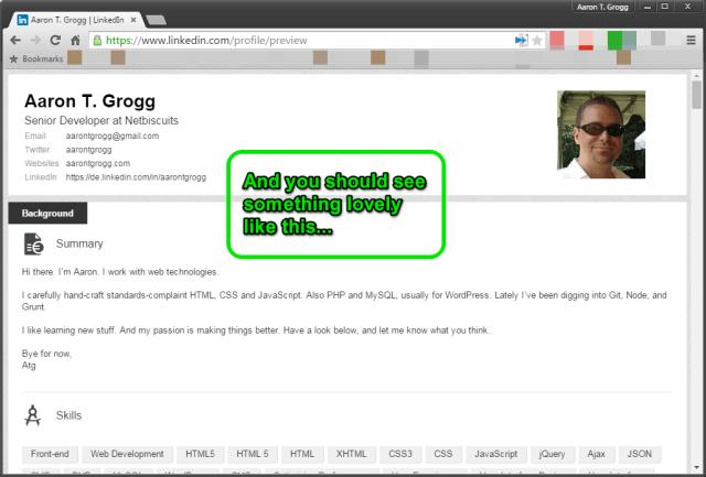 LinkedIn Chrome Extension instructions, step 3