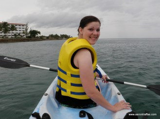 Diane on the kayak