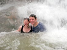 Aaron and Diane Traffas in Dunn's River Falls