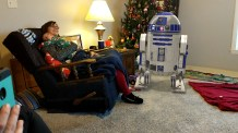 R2-D2 joined us for Christmas