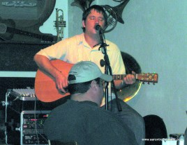 Aaron Traffas playing at Professor's in Hays, Kansas