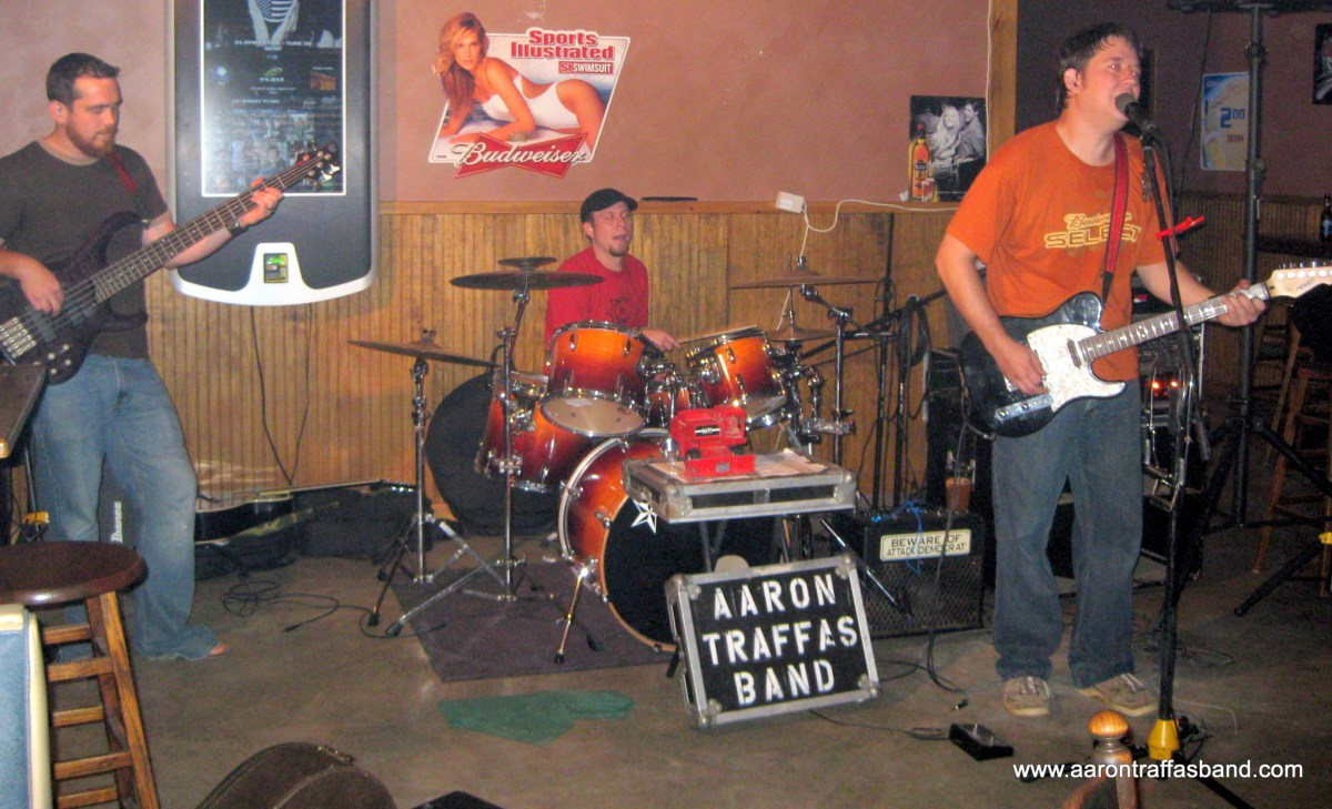 Aaron Traffas Band ag rock with Anthony Farrar in Kiowa Kansas