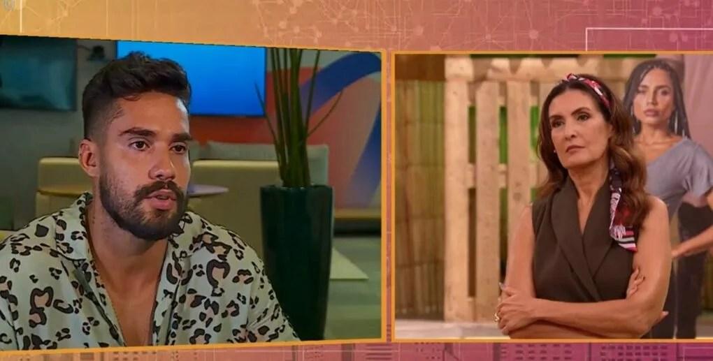Fátima Bernardes faz pergunta indelicada e deixa Bil irritado