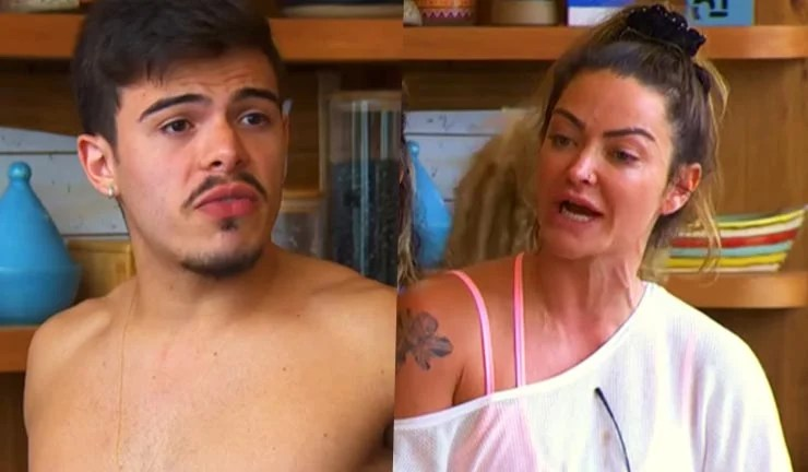 """Thomaz Costa se irrita depois de ser chamado de """"pirralho"""" no Ilha Record"""
