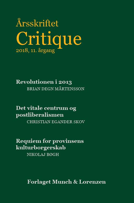 Årsskriftet critique 2018