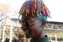 It's all fun and colour for Tremaine Simons, sporting colourful dreads and the most unique accessories. Photo: Aarti Bhana