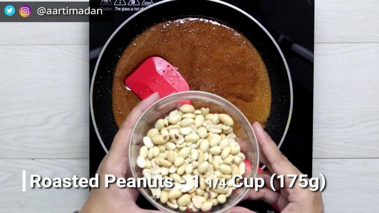 PeanutChikki - Step8 - Add peanuts