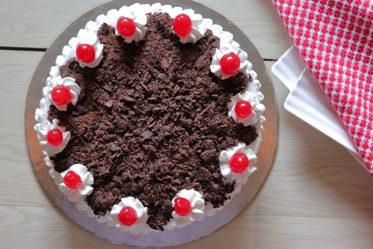 Recipe for Eggless Black Forest Cake