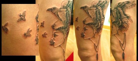 Custom wolf woman piece