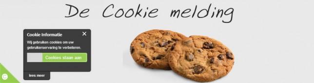 cookie meldingen