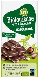 beste pure chocolade met nootjes test AH biologisch