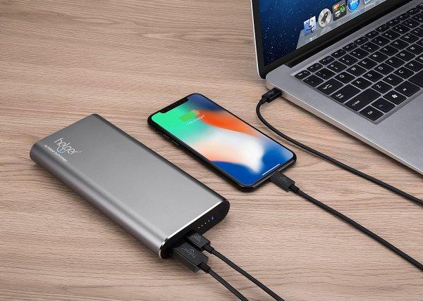 usb-c 45w powerbank high power laptop opladen draagbaar