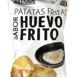 huevo frito: gebakken ei chips