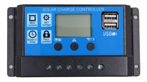 zonnepaneel laadregelaar 12v 24V, 10 20 of 30A, met 2xUSB