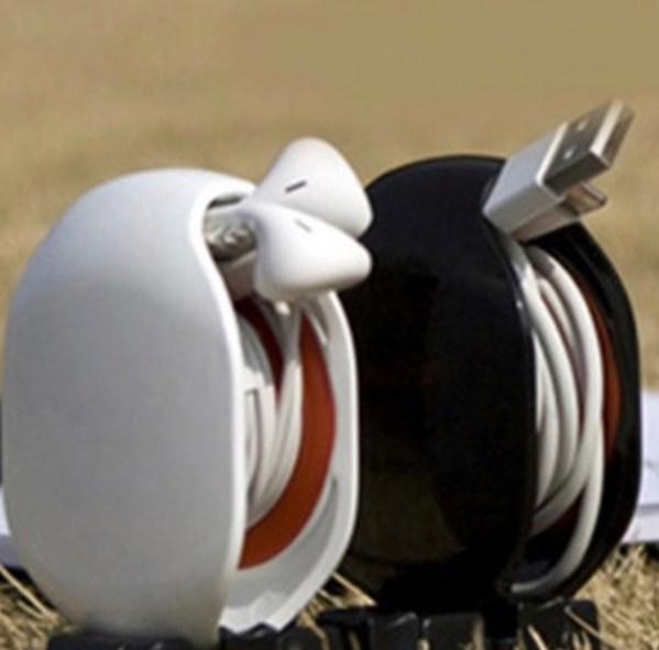 kabelwinder oortjes oprollen