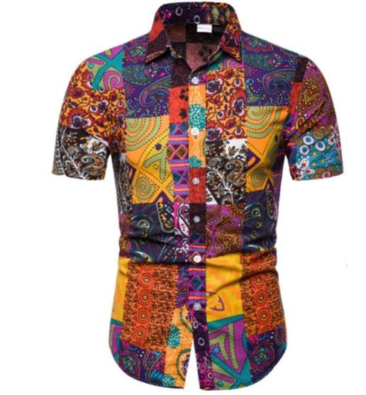 Hawaii shirt goedkoop linnen katoen zomer korte mouw
