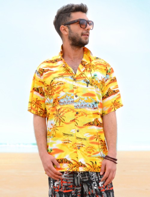 Hawaii shirt katoen oversized