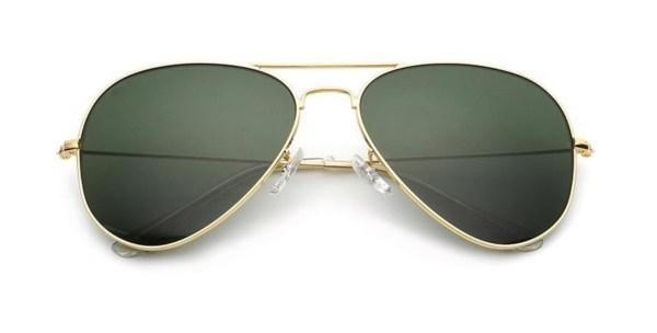 zonnebril van echt glas pilotenbril