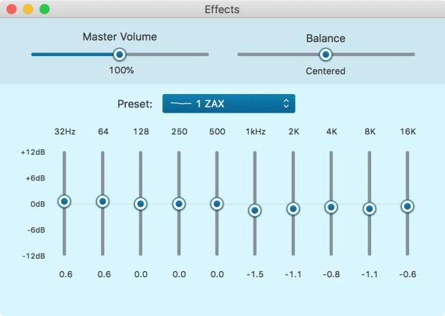 KZ ZAX EQ setting