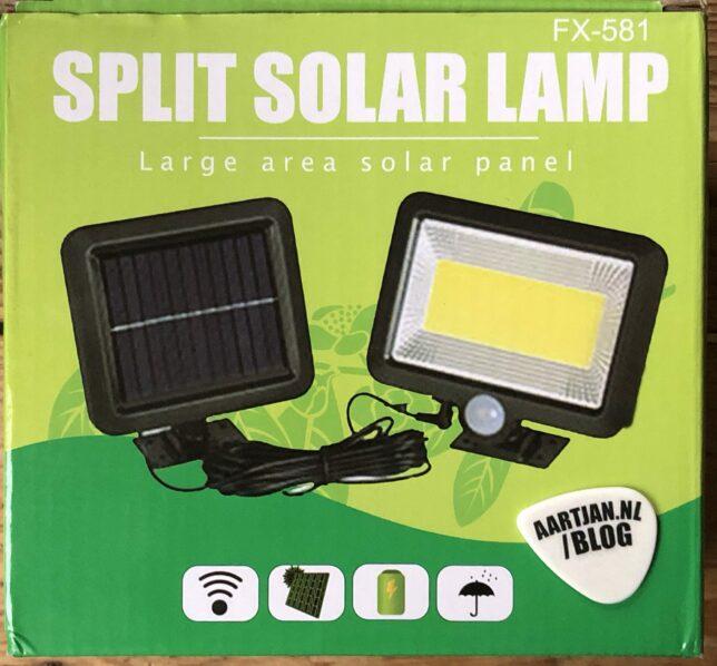 ledlamp pir solar zonnepaneel beweginssensor