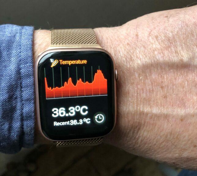 Lichaamstemperatuur: de meting duurt een paar seconden, het lijkt echt te werken