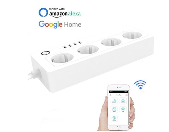 stekkerdoos smart wifi google home stroomstekker verlengsnoer