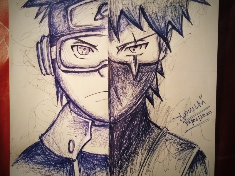Obito Uchiha and Kakashi Hatake Sketch