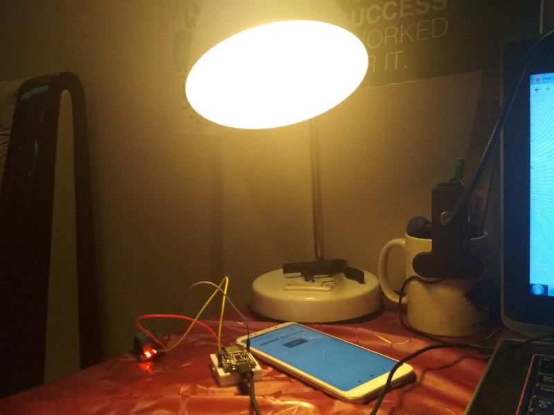 Arduino: Project 29: Home Automation: Controlling my Study Lamp from the browser
