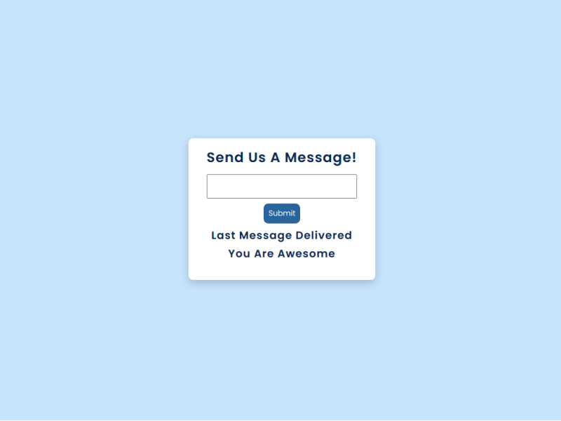 Web Dev Project 5: Pass the message