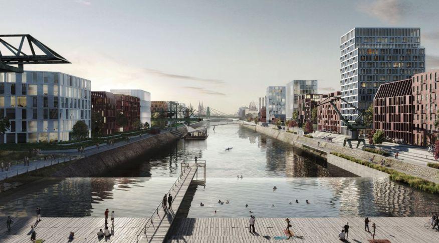transform Cologne's industrial harbour