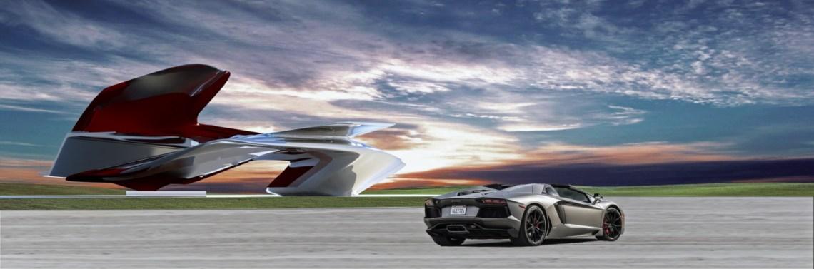monument at the Lamborghini Factory