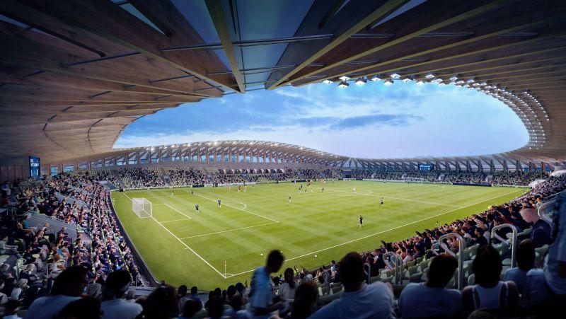 new football stadium in Stroud