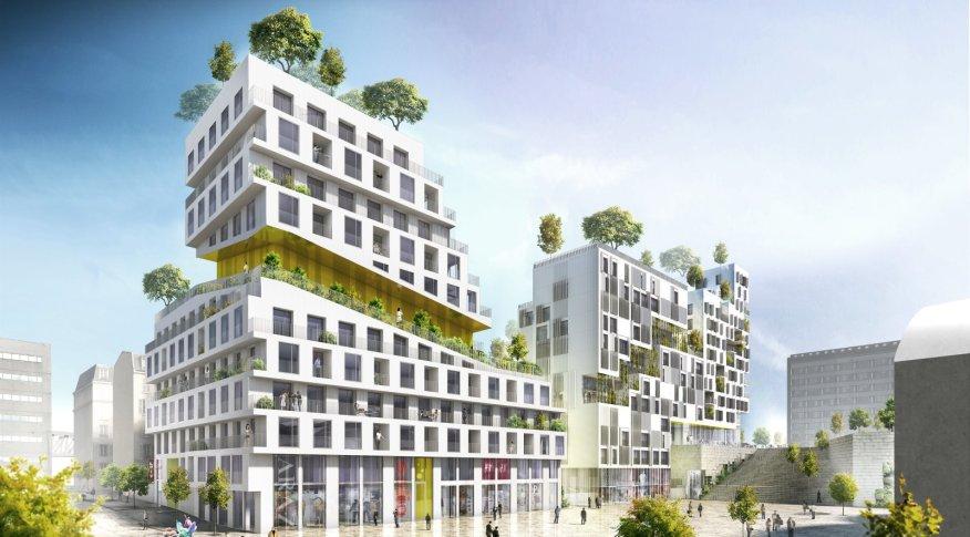 Housing block in Paris ZAC Rive Gauche