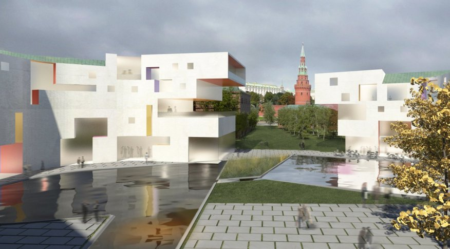 Moscow golden island by steven holl architect for Home holl