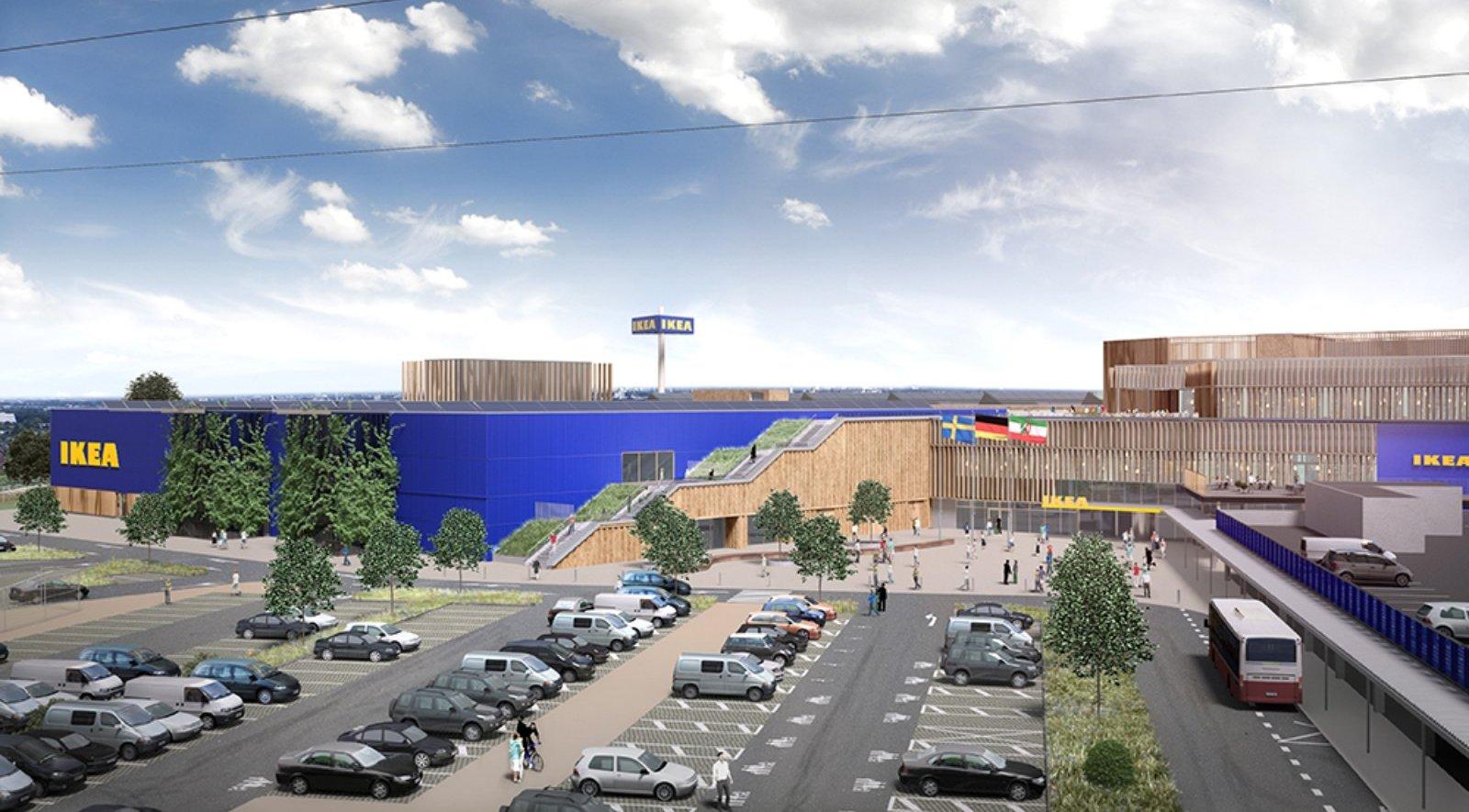 new-built IKEA store in Kaars