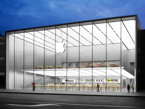 open apple store in china by foster partners. Black Bedroom Furniture Sets. Home Design Ideas