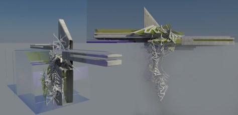 Solar Cluster and Heliostat Sand Turbine Hotel